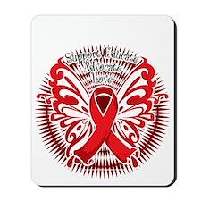 Heart-Disease-Butterfly-3-blk Mousepad