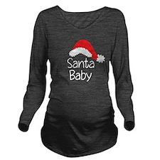 Santa Baby Long Sleeve Maternity T-Shirt