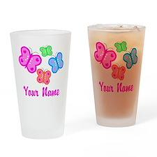 Butterflies Personalized Drinking Glass