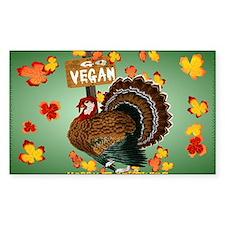 Go Vegan! Thanksgiving-Yardsig Decal