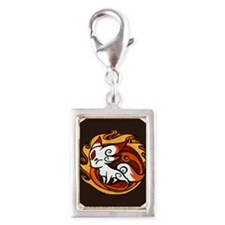 2-fox_01 Silver Portrait Charm