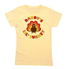 Daddy's Lil' Turkey Girl's Tee