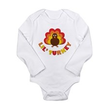 Lil' Turkey Long Sleeve Infant Bodysuit