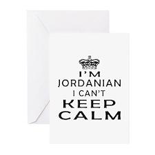 I Am Jordanian I Can Not Keep Calm Greeting Cards