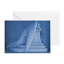 blue landscape weeping angel Greeting Card