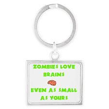 Trans_Zombies_Love_Brains Landscape Keychain