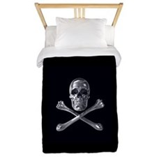Jolly Roger Skull Twin Duvet Cover