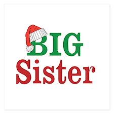 Christmas Big Sister Invitations