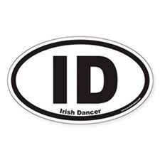 Irish Dancer ID Euro Oval Decal