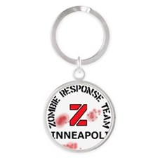 Zombie Response Team Minneapolis Round Keychain