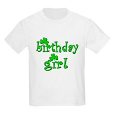 Irish Birthday Girl Kids T-Shirt