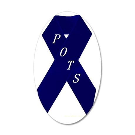 POTS (Postural Orthostatic T 35x21 Oval Wall Decal