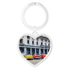 Cars of Havana Heart Keychain