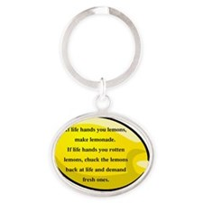 Lemonsclipart2 - Copy Oval Keychain