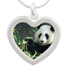 panda2 Silver Heart Necklace