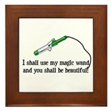 Beauty Shop Magic Framed Tile