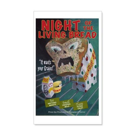 Night of the Living Bread 20x12 Wall Decal