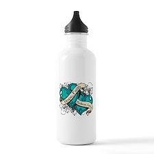 Scleroderma Hope Hearts Water Bottle