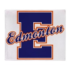 Edmonton Letter Throw Blanket