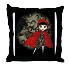 red_hood_postal Throw Pillow