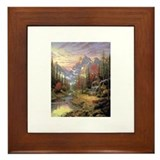 Thomas kinkade Framed tile