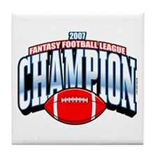 2007 Fantasy Football Champio Tile Coaster
