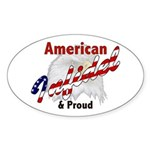 American Infidel Oval Sticker