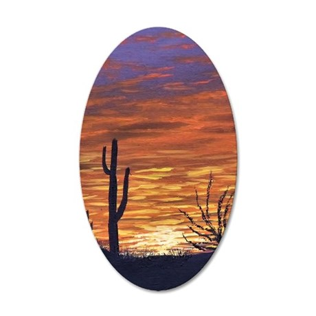 sonoran sunset journal 35x21 Oval Wall Decal