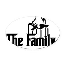 thefamily_blacktext Oval Car Magnet