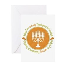 1st Thanksgiving Hanukkah Greeting Card