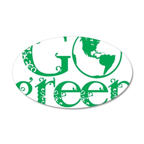 Go-Green 35x21 Oval Wall Decal
