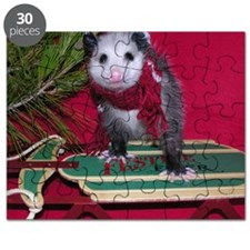 Possum on Christmas sled Puzzle