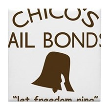 Chicos Bail Bonds Brown Tile Coaster