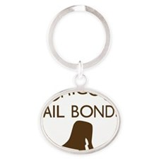 Chicos Bail Bonds Brown Oval Keychain