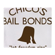 Chicos Bail Bonds Brown Throw Blanket