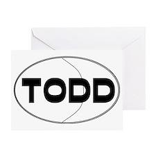 todd Greeting Card