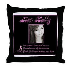 nbcfa_lg_blk Throw Pillow