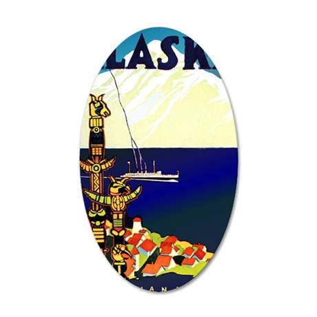 Vintage Travel Poster for Al 35x21 Oval Wall Decal