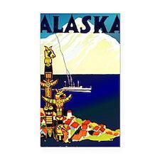 Vintage Travel Poster for Ala Rectangle Car Magnet
