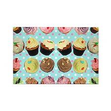CupcakesPolkaDotMouseMat Rectangle Magnet