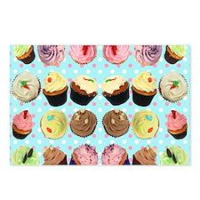CupcakesPolkaDotMouseMat Postcards (Package of 8)
