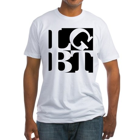 LGBT Black Pop Fitted T-Shirt
