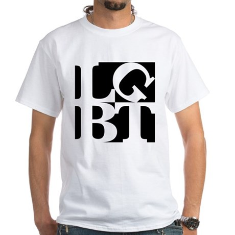 LGBT Black Pop White T-Shirt