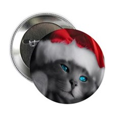 "Cmas Kitty pillow 2.25"" Button"