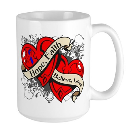 Pulmonary Fibrosis Hope Hearts Large Mug