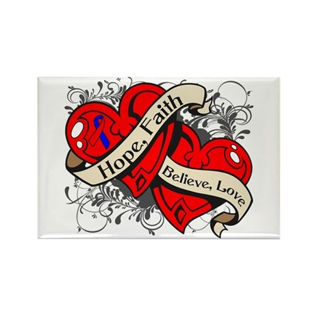 Pulmonary Fibrosis Hope Hearts Rectangle Magnet