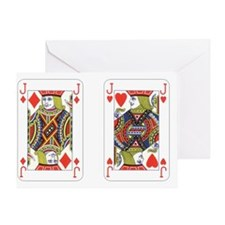 Jacks (red) Greeting Card