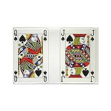 Queen Jack Spades Rectangle Magnet