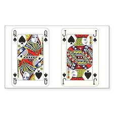 Queen Jack Spades Decal