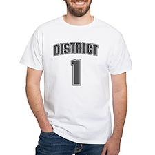 District 1 Design 6 White T-Shirt